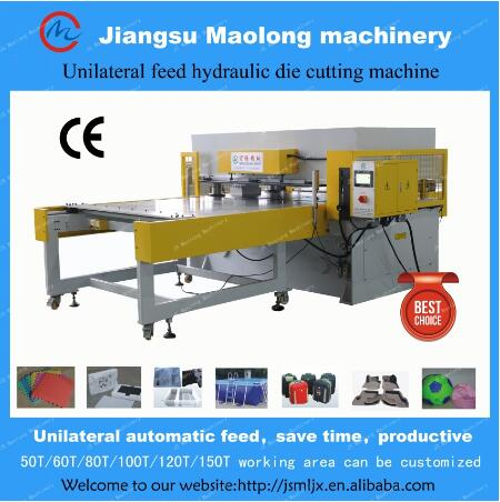 PLC precision four column hydraulic plane cutting machine/pu foam cutting machine