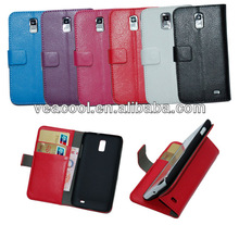 Litchi Book Wallet Leather Case Cover with Card Slots for Samsung Celox 4G LTE Galaxy S2 i9210 E110s case