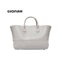 Elegant Europe Style Real Very Soft Good Luxury Grey Leather Handbags Bags Sale