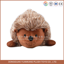 YK SA8000 supplier realistic soft toy plush hedgehog brown embroidery handmade