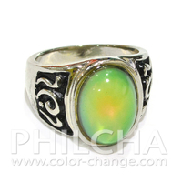 Color Changing Retro Oval Mood Stone Ring For Men Women