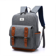 Outdoor Sports Gray Simple Backpack Nylon Vintage Travelling Backpack