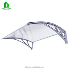 Lanyu stainless steel canopy bracket polycarbonate roof used solar awning