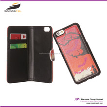 Luxury genuine PU Leather mobile phone Wallet Flip Cover Case for iphone 6 For samsung s3 mini case with Stand