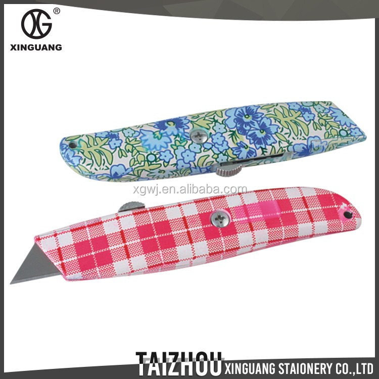 Fancy design high quality flower floral sliding blade utility knife