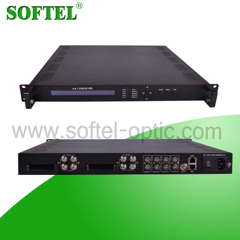 [SOFTEL]SFT358x 4 channels iclass hd satellite receiver, support IP/UDP/RTP/RSTP, dvb-c/s receiver