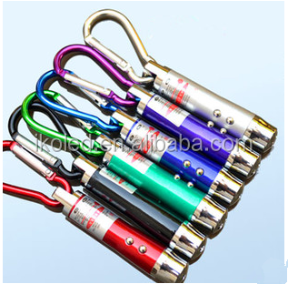 3 in 1 Red Ray Laser Beam Pointer Pen 2 LED Flashlight UV Torch Light