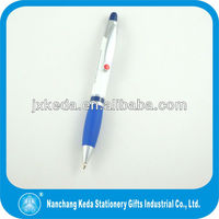 Exw price metal pen with blue grip for promotion