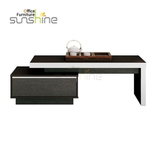High Quality Distinctive Commercial Design Square Office Wooden Tea Table Furniture