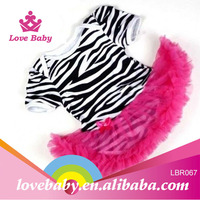 2015 New arrival OEM zebra print toddler romper dress