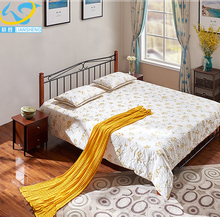 China supplier hostels furniture cheap iron double bed parts design furniture pakistan