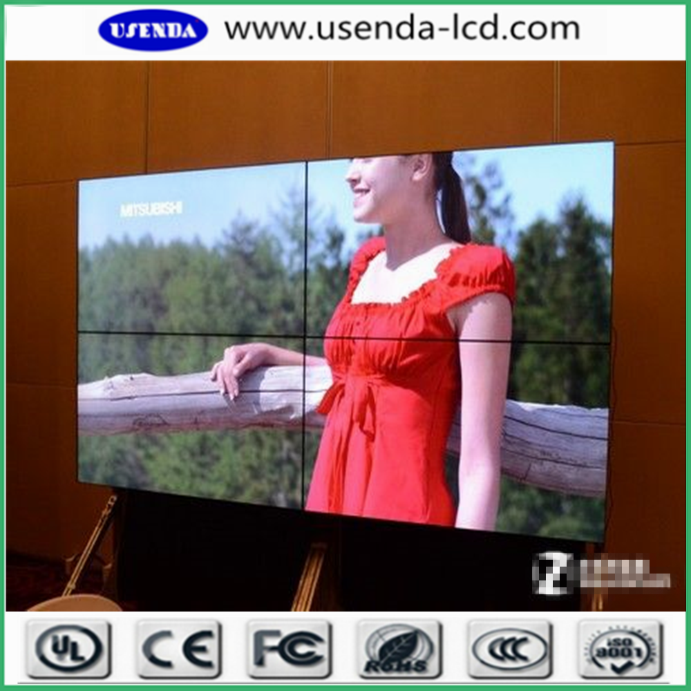 55inch indoor ultra narrow bezel wall tv/ LCD video wall system with 4k resolution