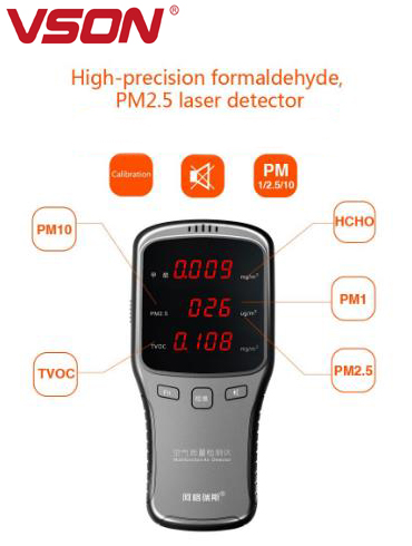 Li- battery power Multi-function humidity and temperature meter with clock function