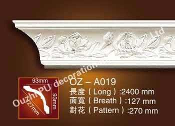 PU cornice moulding for interior and exterior decoration