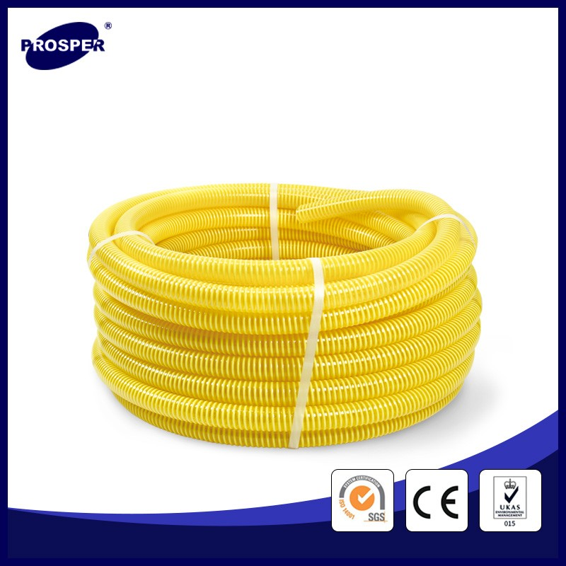 Flexible PVC concrete water suction discharge hose pipe to submersible pump sewage
