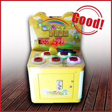 Crazy frog funny games children's coin operated kids hit hammer game machine