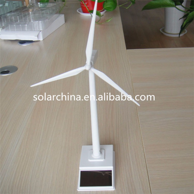 NEW design DIY office decorations Solar Windmill Model Toy