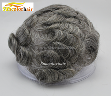 wholesale lace men toupee 100% virgin malaysian human hair grey hairpieces