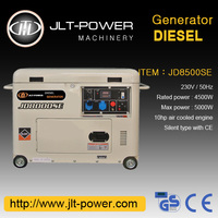 China Cheap Electric Start 5kva Diesel Generator Set for home