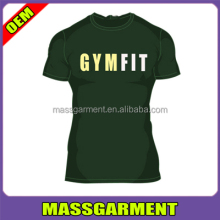 custom Tight-fitting elastic sports Men T shirts Men Tops Tees