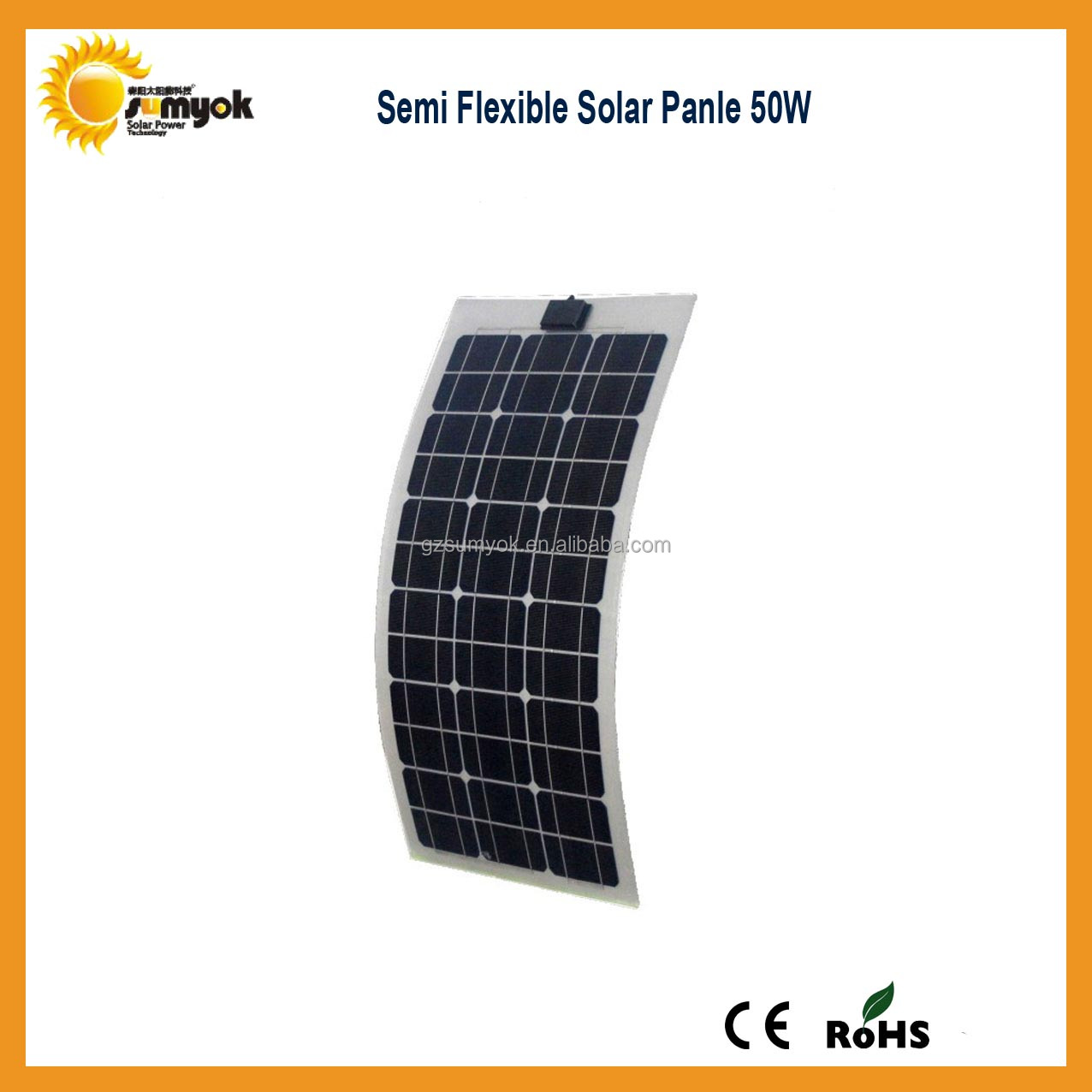 2014 Hot sales cheap price 50W flexible solar panel/solar module/pv module