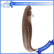 Popular style claw clip in ponytail with adjustable elastic band free shadding and tangle