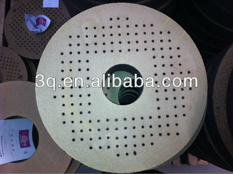 resin bonded grinding wheels with screw holes-36-K 300x65x75mm GC180Q B