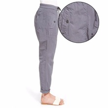 Fancy Cotton Mid Waist Woman Fashion Casual Pull-On Pants