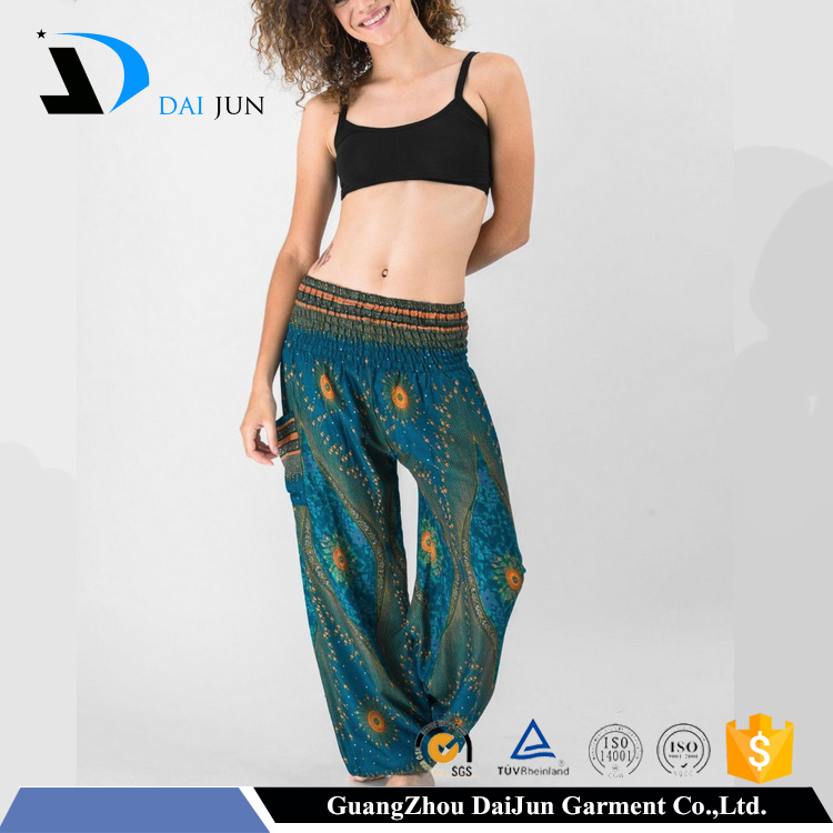 Daijun oem hot sale summer custom printing women harem pants wholesale in china