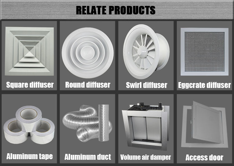 Hvac System Air Conditioning Powder Coated Aluminum Round