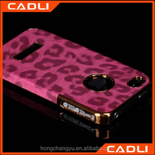 Hot selling leather Back cover phone case for apple iPhone 4 4s case