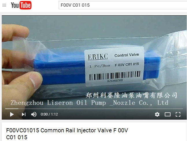ERIKC F00V C01 015 valve F00VC01015 common rail injector parts valve F 00V C01 015 module For 0445110059