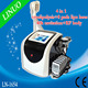 4 In 1 Professional Portable RF Cavitation Lipolaser Cryolipolysis Cool Shaping Machine