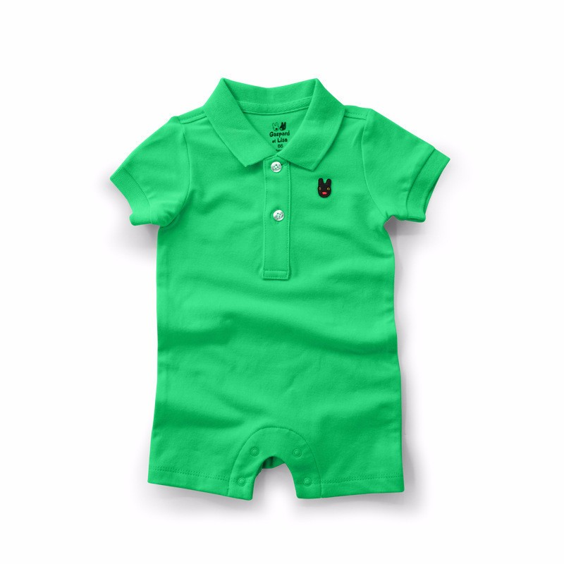 Combed cotton baby romper summer newborn baby onesie baby clothing