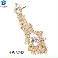 HW6248 shoe upper sandalias woman ornaments stones shoe accessories