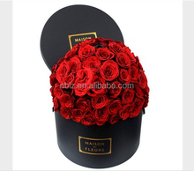 Luxury Custom Logo Material Cardboard Tube Rose Gift Paper Round Flower Box