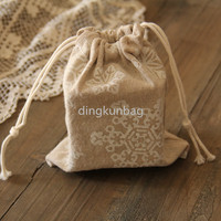 2015 cotton canvas drawstring bag