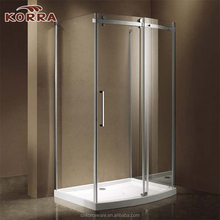 Shower Enclosure with Bow Front Single Sliding Door Panel and Two Side Panels (K-M3A/M3B)