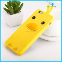 2016 New Silicon Materia Soft Cute Chicken Cartoon Cover Case for iPhone5/iPhone6/iPhone6plus
