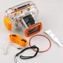 40m 130ft Waterproof Underwater Housing Bag Case for Nikon J1 10-30mm Lens Camera