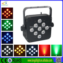 wireless battery led par light 9*3W 3in1 rechargeable battery for wedding stage decoration