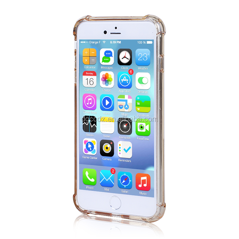 tpu+pc Material and for iPhones Compatible Brand, pc tpu bumper case for iphone 6/6S plus