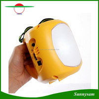Emergency Lighting AC Charger Portable Solar Rechargable LED Lantern for Outdoor Camping