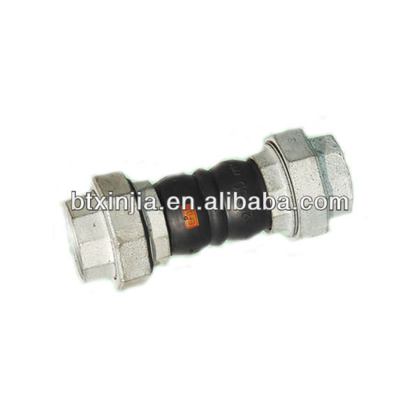 screwed double sphere expansion joint rubber bellow
