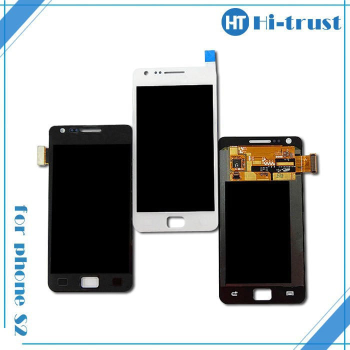 DHL Free Shipping! 100% Guarantee Original LCD Screen with Touch screen Assembly for Samsung Galaxy S2