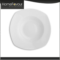 Frankfurt Fair Attender TUV Standard Home White Plain Ceramic Rice Plate