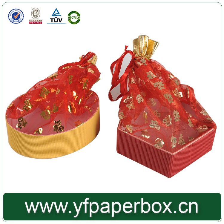 Hot sell customer favoured decorative corrugated chocolate candy boxes for wedding