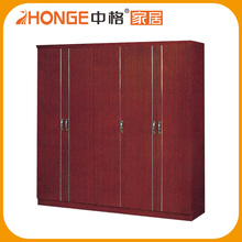High Quality Panel Wood Bedroom Simple Wardrobe Designs
