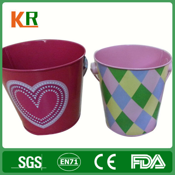 Contracted Crafted Food Grade Tinplate Metal Tin Bucket