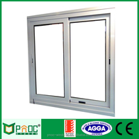 Aluminum Tinted Glass Sliding Windows With Blind